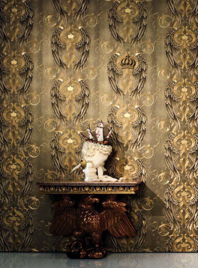 papier peint morrigan dor papier peint des ann es 70. Black Bedroom Furniture Sets. Home Design Ideas
