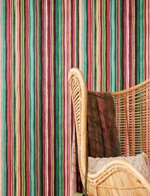Papel pintado Zeno color burdeos Ver habitación