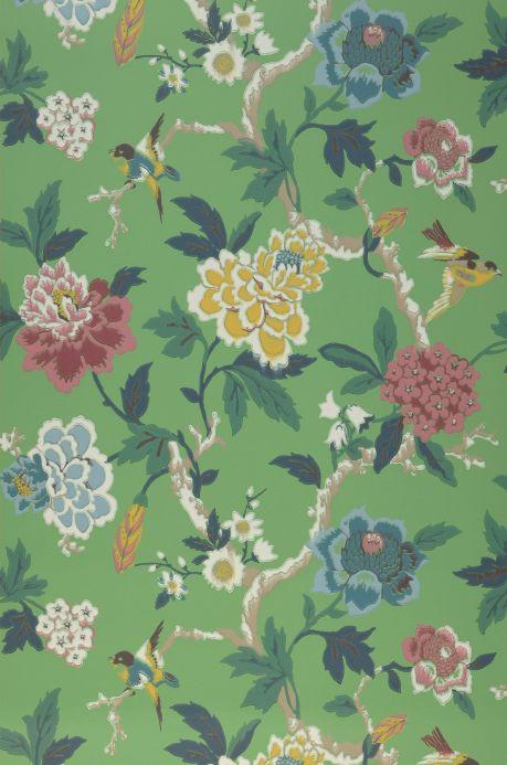 Archiv Papel pintado Sloana verde pátina Ancho rollo