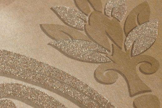 Tapete Harmonia Graubeige Detailansicht