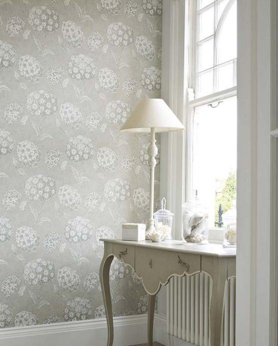 Archiv Papel pintado Larissa gris claro Ver habitación