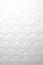 Wallpaper Dryden Matt Historic flower patterns White