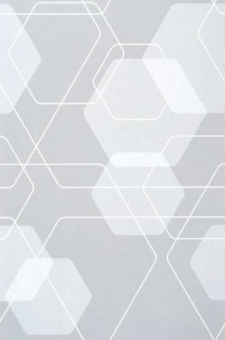 Wallpaper Nolan Matt Retro elements Light grey Grey white White