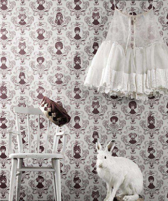 Archiv Wallpaper Tillsammans light wine red Room View