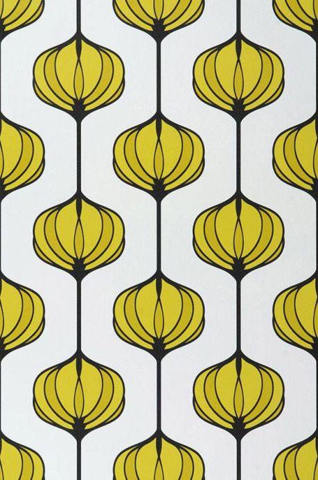 Archiv Papier peint Maude jaune vert Largeur de lé