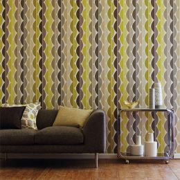 Papel de parede Esus verde amarelado