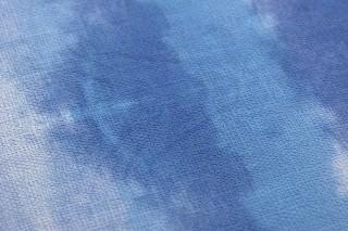 Wallpaper Alika Matt Looks like textile Batik style Stripes Shades of blue