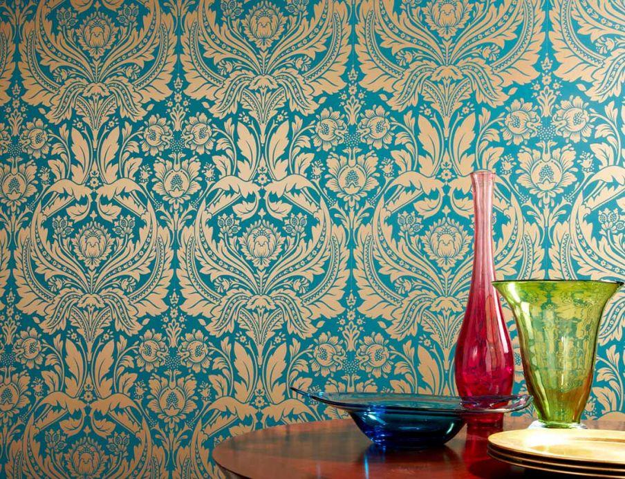 Archiv Wallpaper Manus water blue Room View