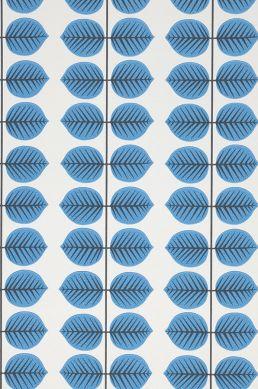 Tapete Leonarda Blau A4-Ausschnitt