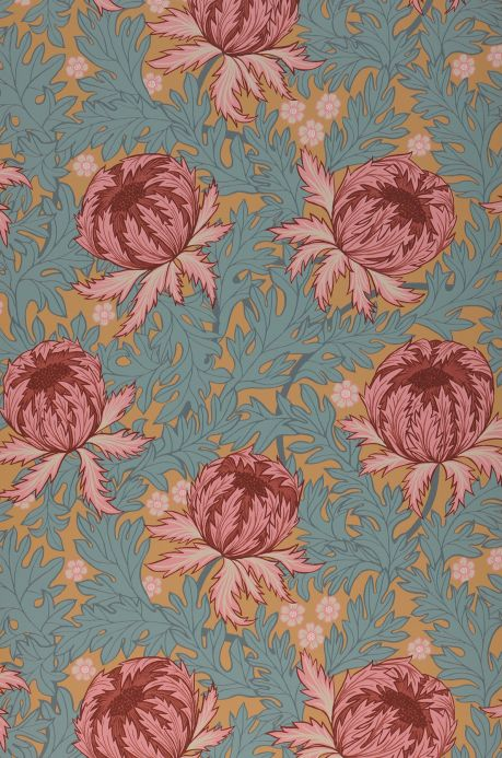 Floral Wallpaper Wallpaper Ardassa wine red Bahnbreite