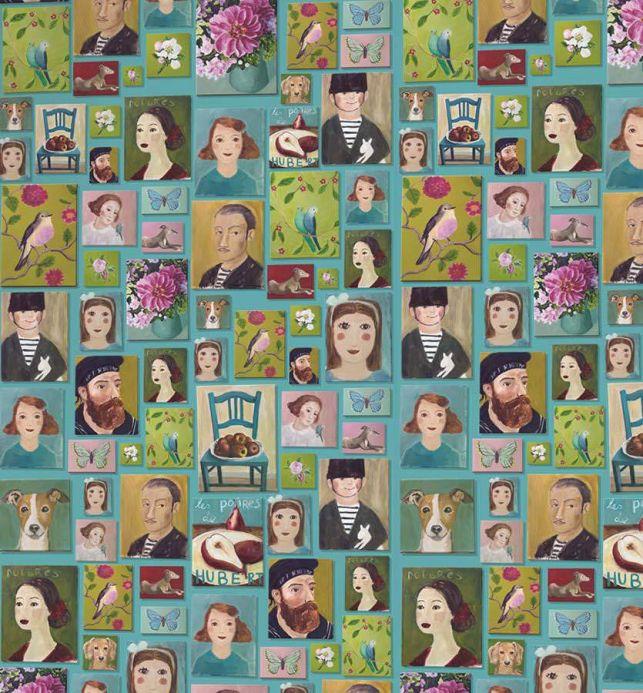Archiv Photo murale Hurakan vert petit pois Vue détail