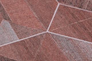 Wallpaper Moura Matt Geometrical elements Brown tones Light grey Matt silver