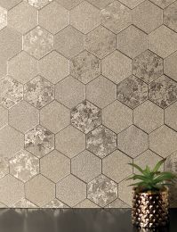 Wallpaper Hexagono gold