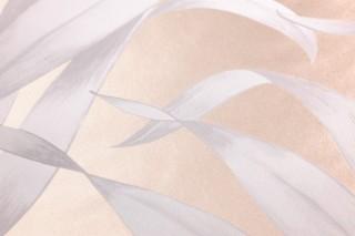 Wallpaper Paradiso Matt pattern Shimmering base surface Leaves Pearl beige Cream Grey white Light grey