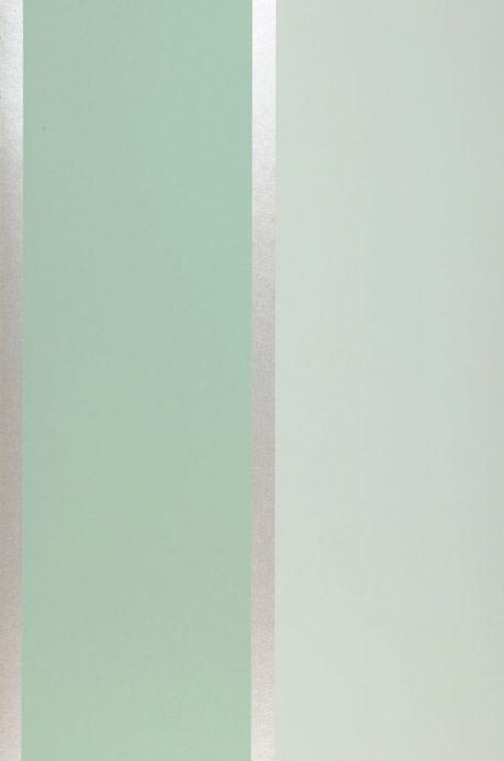 Papier peint à rayures Papier peint Tyra vert pastel Largeur de lé