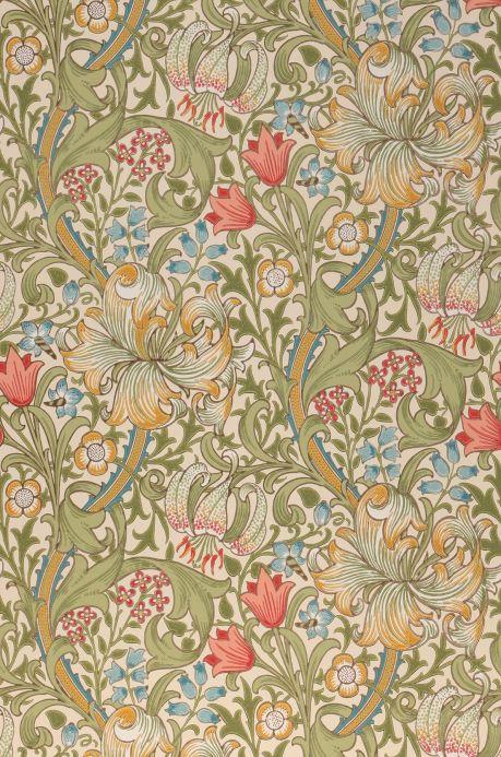 Blumen Tapeten Tapete Wispa Schilfgrün Bahnbreite