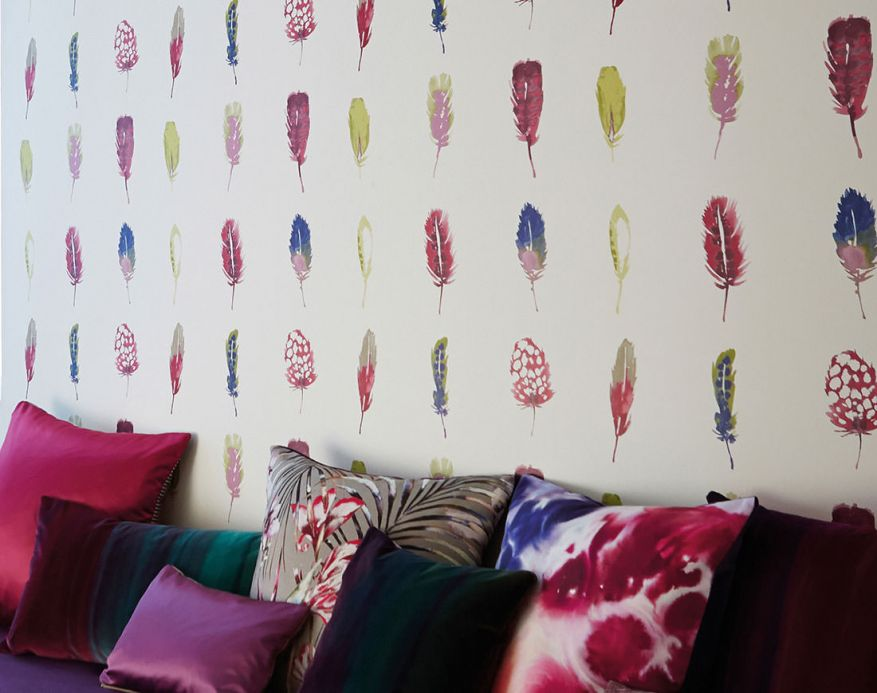 Funky Wallpaper Wallpaper Ferty claret violet Room View