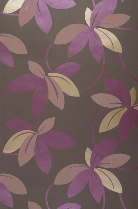 Archiv Wallpaper Eirene red violet pearl lustre Roll Width