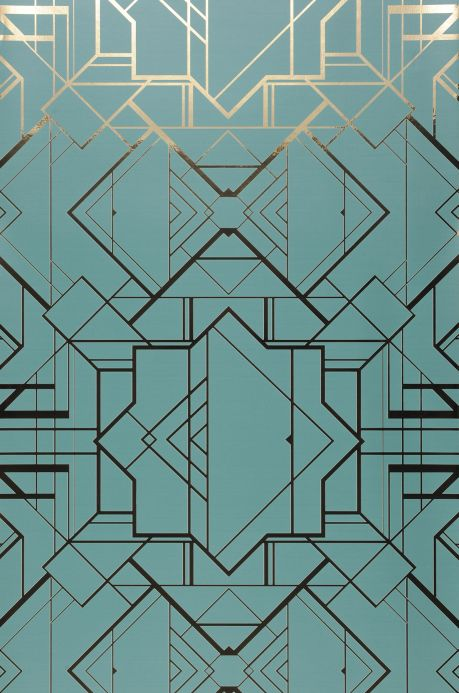 Bedroom Wallpaper Wallpaper Gladys mint turquoise Bahnbreite