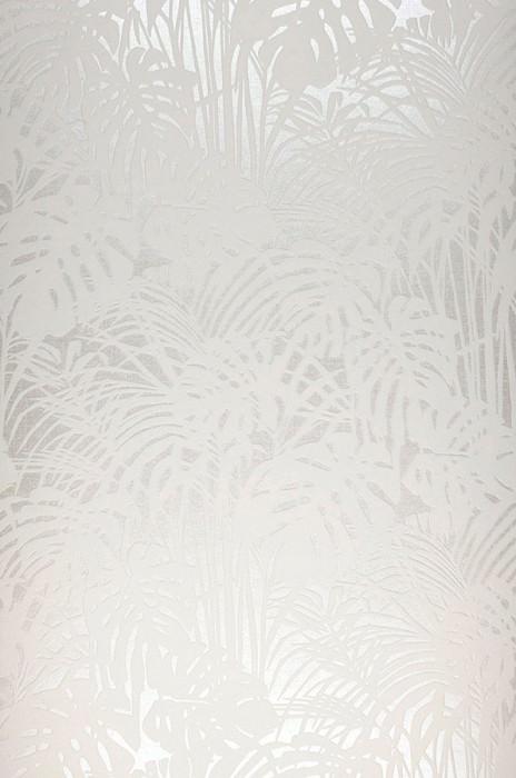 Tapete Persephone Muster matt Untergrund schimmernd Palmenzweige Creme Cremeweiss