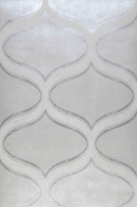 Archiv Wallpaper Hulda white aluminium Roll Width