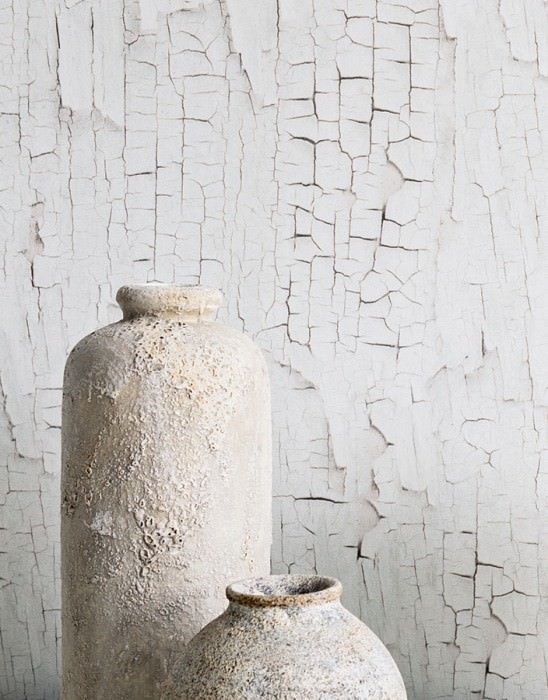Wallpaper Comorra Matt Weathered paint Brown grey Brown white