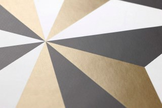 Wallpaper Limal Matt Graphic elements Pearl gold Black White
