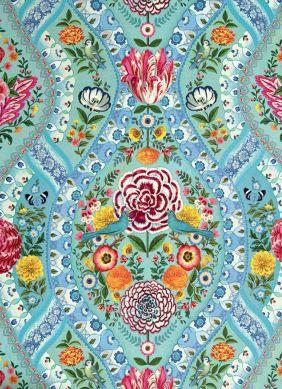 Fotomurale Brigid turchese pastello Visuale dettaglio
