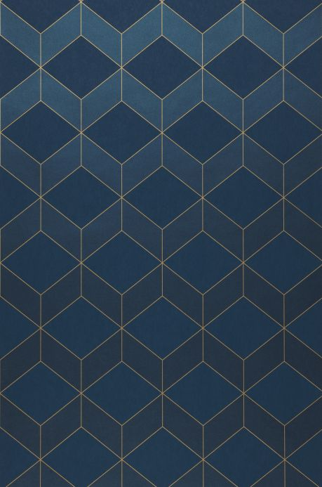 Luxury Wallpaper Wallpaper Barite dark blue shimmer Bahnbreite