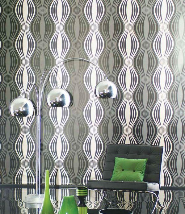 Archiv Wallpaper Titania black Room View