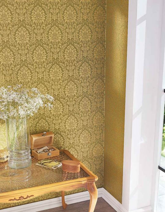 Archiv Wallpaper Sedan beige shimmer Room View