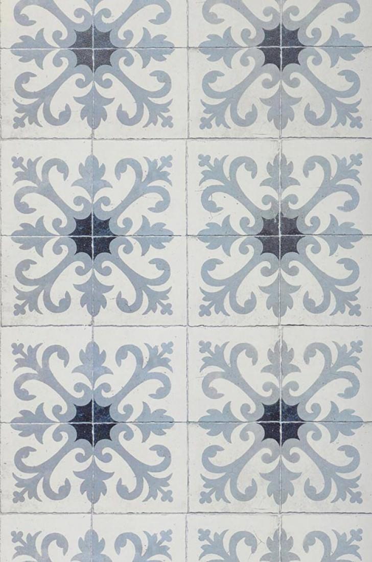 tapete damascus grau grauweiss schwarzblau tapeten der 70er. Black Bedroom Furniture Sets. Home Design Ideas