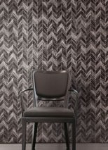 Wallpaper Sassari Matt Graphic elements Imitation marmor Grey tones Silver shimmer