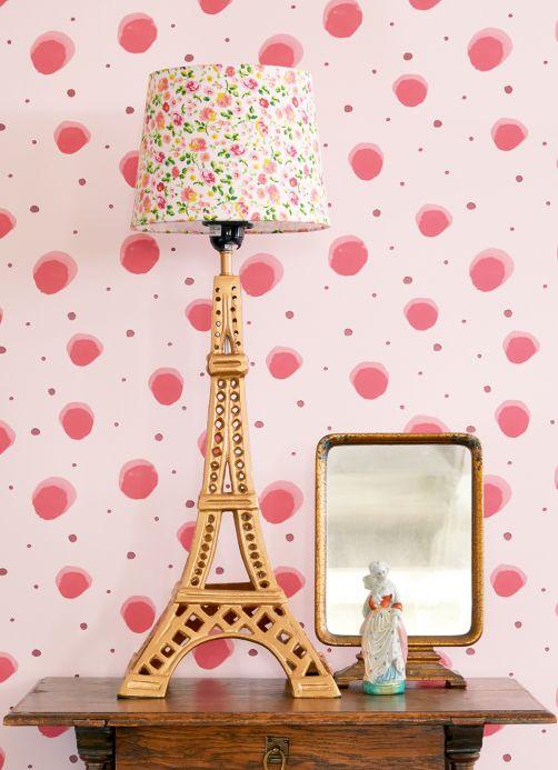 Papel pintado geométrico Papel pintado Pia rosado Ver habitación