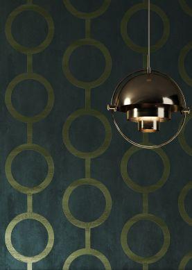 Wallpaper Florin black green Room View
