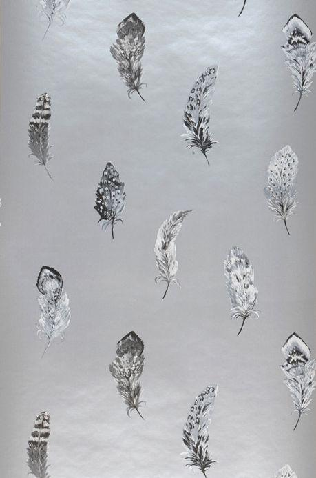 Archiv Wallpaper Feathers pearl light grey Roll Width