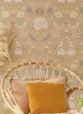 Papel pintado June beige Raumansicht