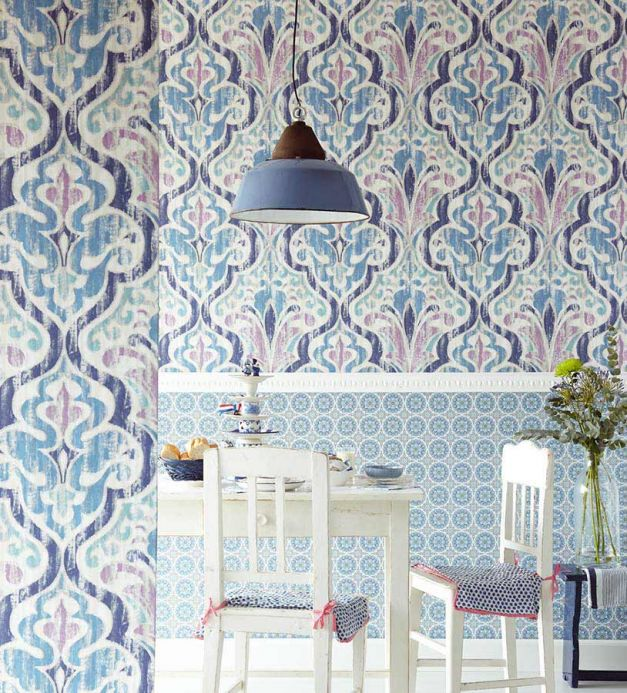 Archiv Wallpaper Artio blue Room View