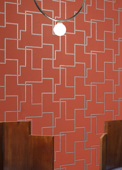 Art Deco Wallpaper Wallpaper Salvador copper brown Room View