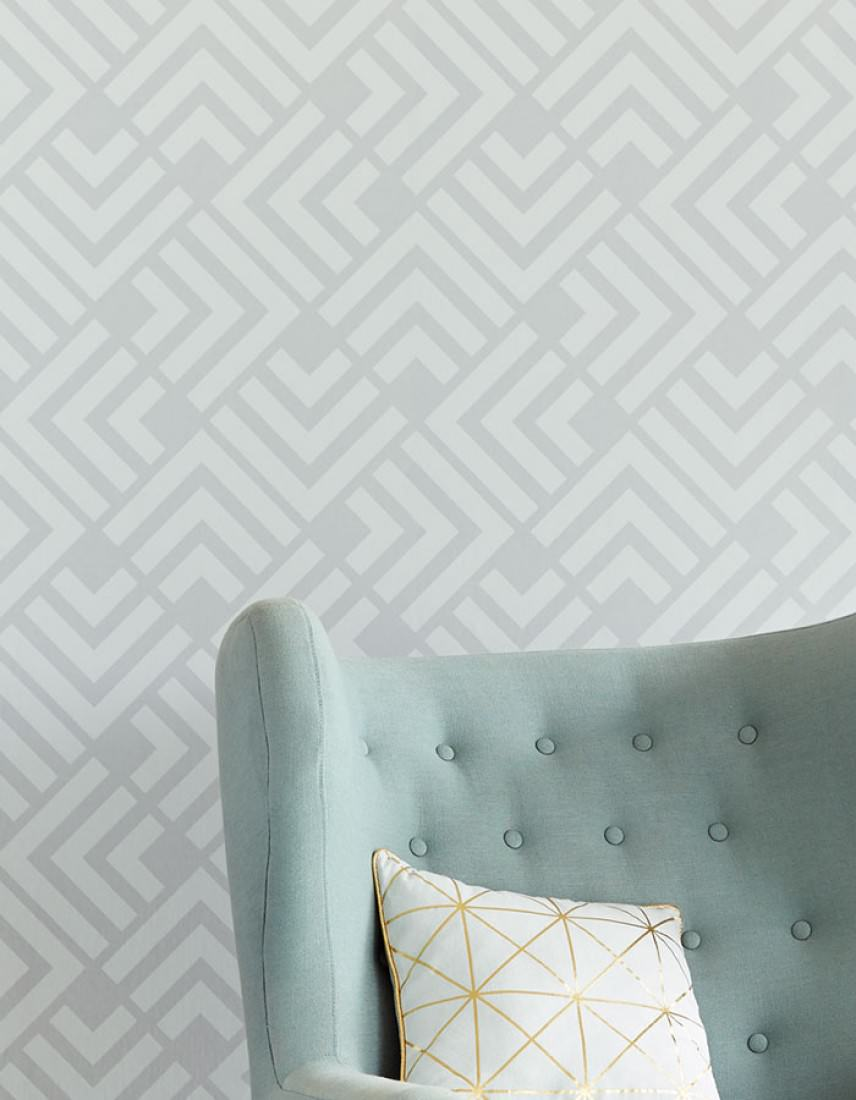 Papel pintado levitus gris claro gris luminoso - Papel pintado de los 70 ...