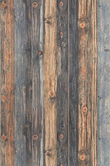 Papel de parede de madeira Papel de parede Used Wood bege pardo Largura do rolo