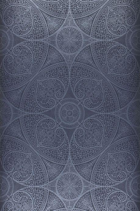 Modern Wallpaper Wallpaper Kassandra sapphire blue Roll Width