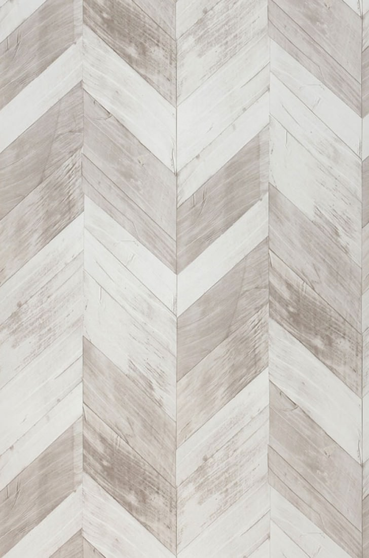 Wallpaper Wood Herringbone Beige Grey Cream Grey White