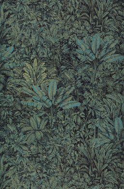 Papel de parede Tropicalia azul turquesa Bahnbreite