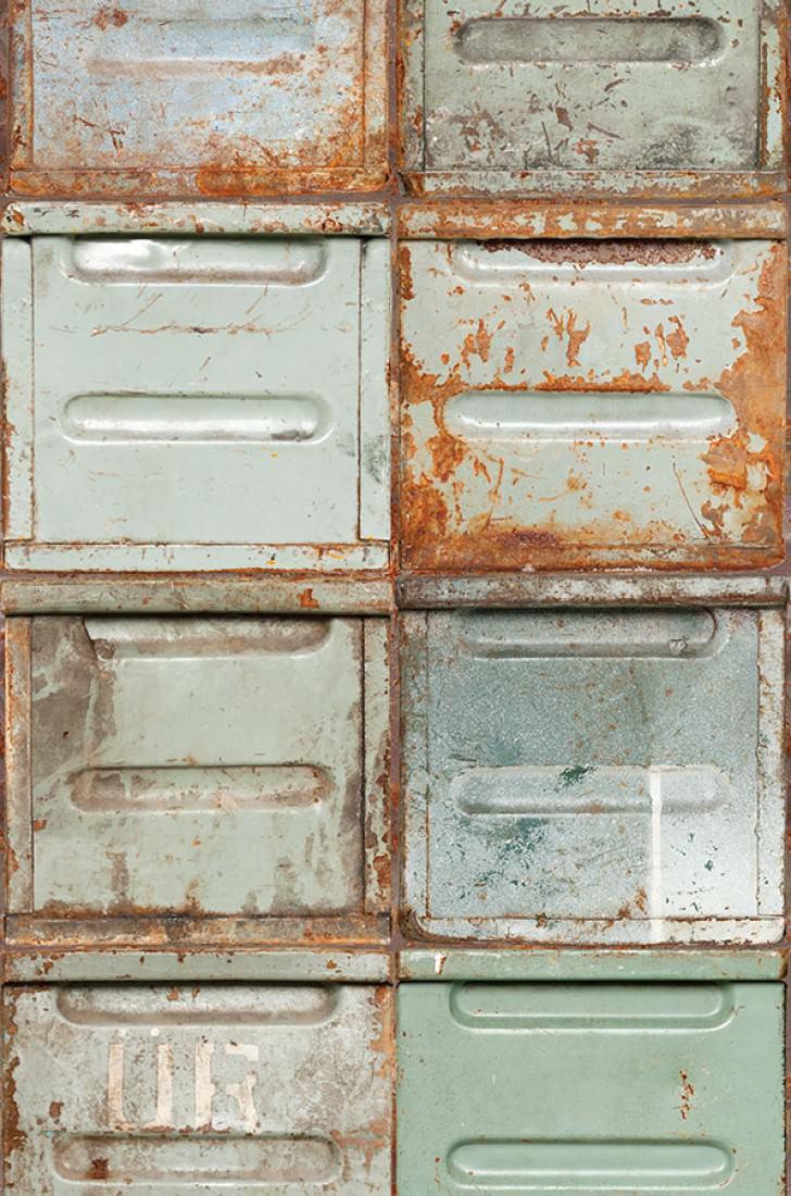 Papier Peint Container Vert P 226 Le Blanc Gris Brun Orange