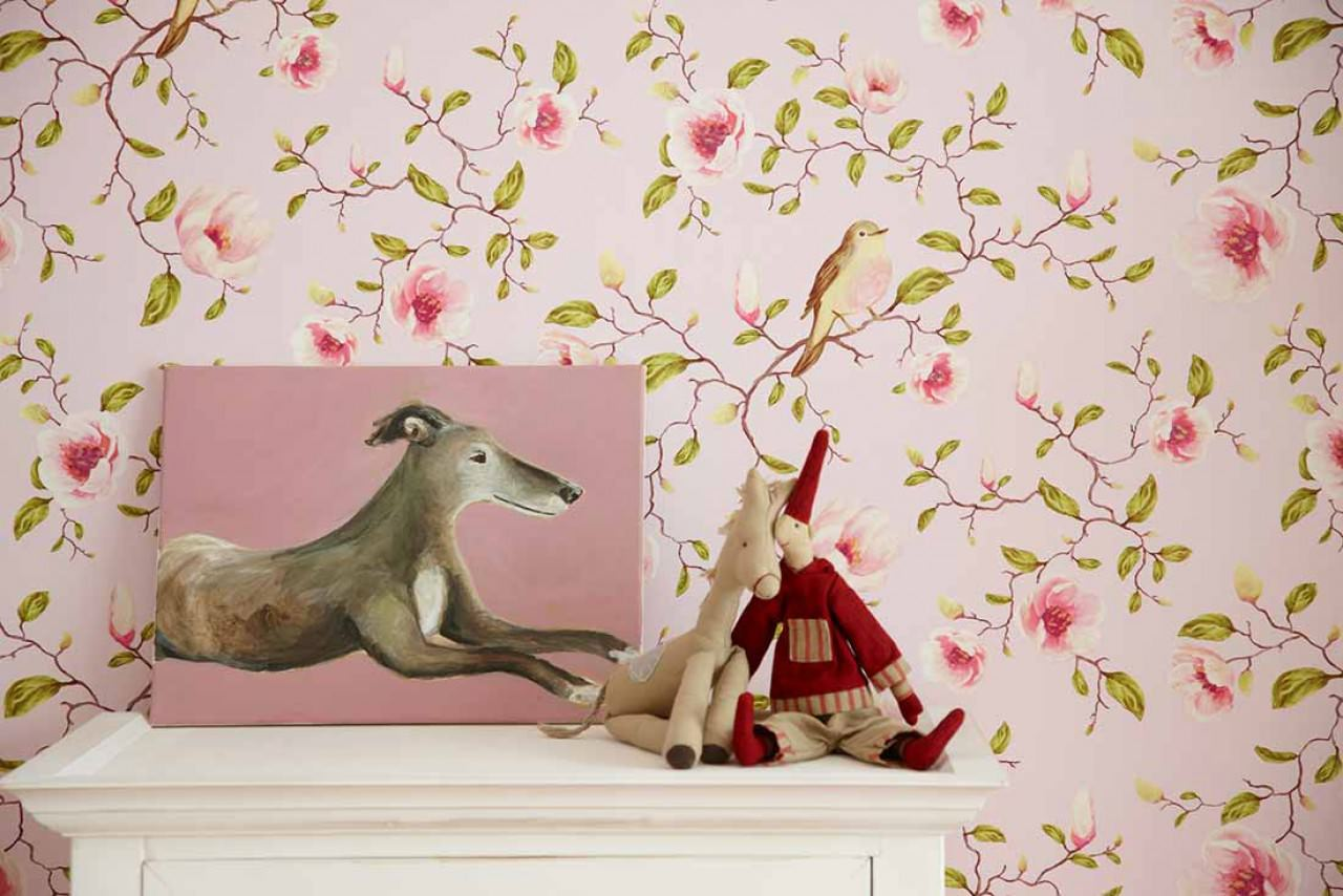 Behang Kinderkamer Vogeltjes : English Country Cottage Tapetentrends ...