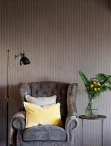 Wallpaper Manarola Matt Looks like textile Stripes Beige grey White