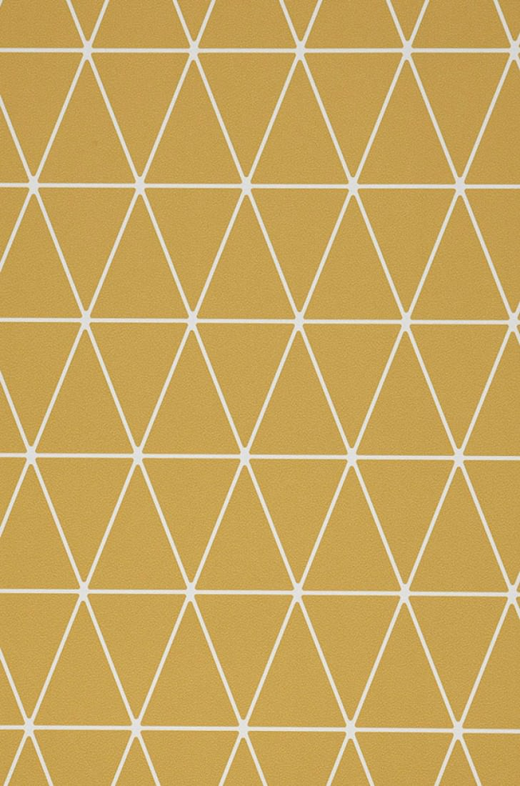 Carta da parati svarog giallo ocra bianco carta da for Carta da parati degli anni 70