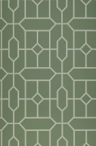 Wallpaper Worana Matt Geometrical elements Hexagons Rhombuses Mint green Pastel green