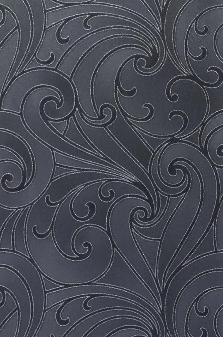 Carta da parati telamon grigio nerastro antracite for Carta parati argento